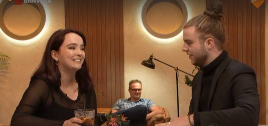 Iris en Daan tijdens First Dates