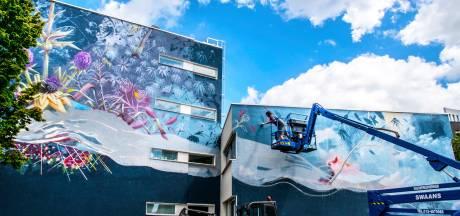 Toffe locatie, schitterende distels: en wéér een muurschildering in Tilburg