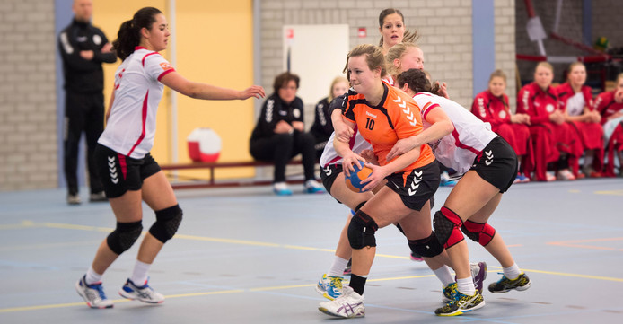 Karlijn Hoogveld was met zeven doelpunten topscorer. Archieffoto Eveline van Elk