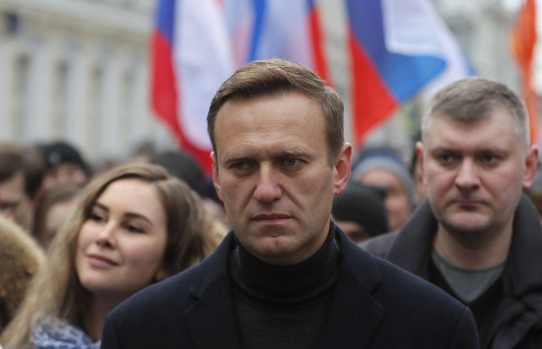 De Russische oppositieleider Alexej Navalny. Beeld Hollandse Hoogte / EPA