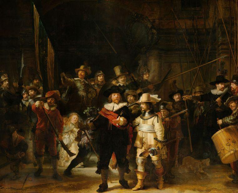 De Nachtwacht, Rembrandt van Rijn Beeld Het Rijksmuseum
