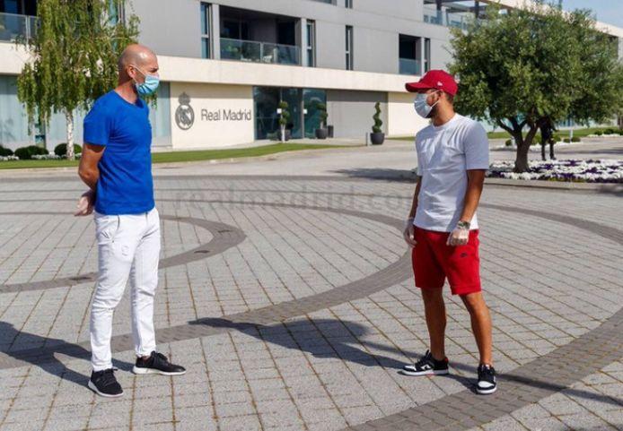 Zinedine Zidane s'est entretenu avec Eden Hazard