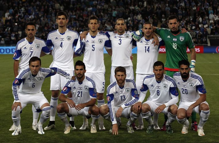 Het nationale elftal van Israël Beeld null