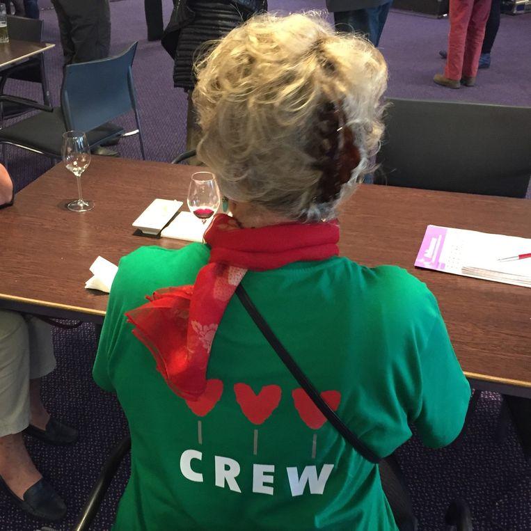 NVVE-vrijwilliger. Beeld Margriet Oostveen