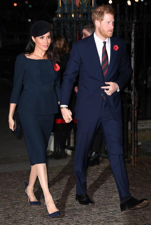 Meghan droeg niet alleen jurk van Stella McCartney op haar trouwfeest, ook hier draagt ze een look van de Britse ontwerpster.
