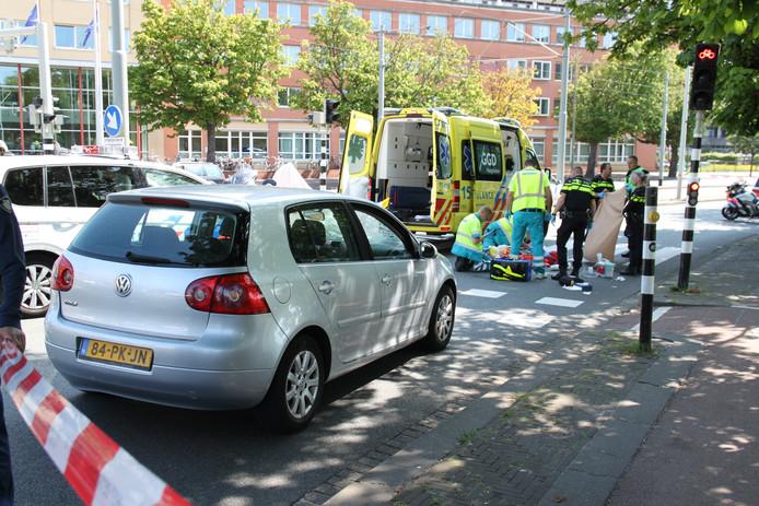 Aanrijding op de Lijnbaan tussen voetganger en automobilist.