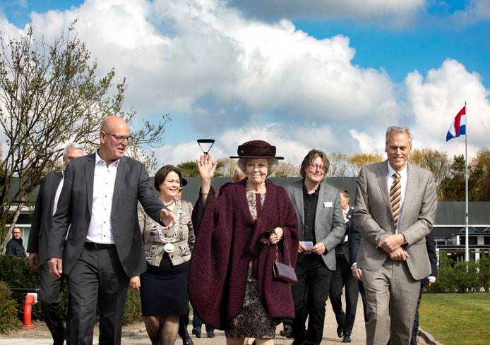 Prinses Beatrix bij Bruns in Bergeijk.