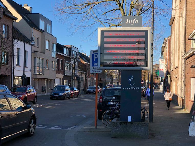 De lichtkrant voor wie via de Steenweg op Mol het centrum van Turnhout binnen rijdt