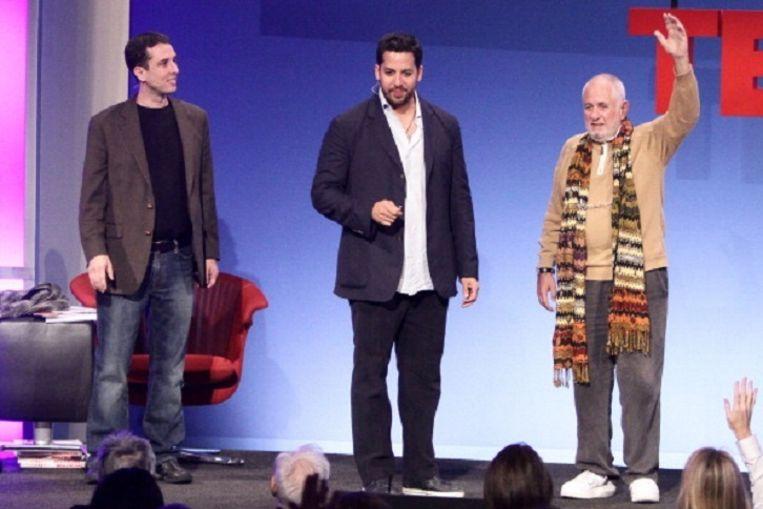 Richard Saul Wurman (rechts), de bedenker van TED. Beeld WireImage
