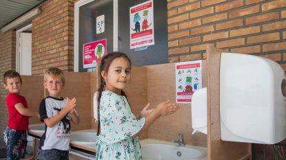 Geen zorgen om handhygiëne in Kleuterschool ORC Pijnderslaan dankzij mobiele wastafeltjes op maat