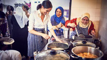 Keukenschort aan en kruidenpotjes in de aanslag: Meghan Markle werkt mee aan kookboek