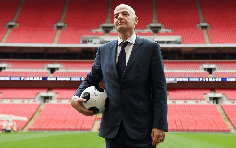 Gianni Infantino, kandidaat voor het voorzitterschap van de FIFA. Beeld epa