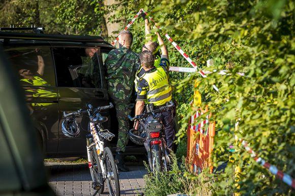 Afzettingen bij de besloten schouw op de Brunssummerheide in de zaak van de moord op Nicky Verstappen.