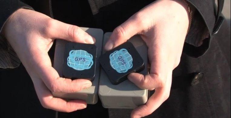 De gebruikte GPS-trackers. Beeld Screenshot GeenStijl