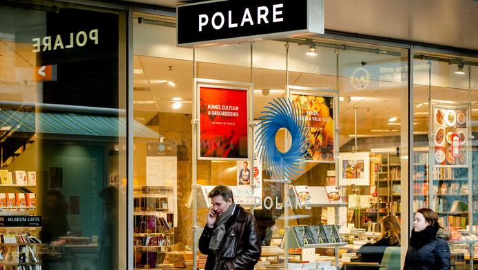 Exterieur van boekwinkel Polare die weer tijdelijk open is gegaan.