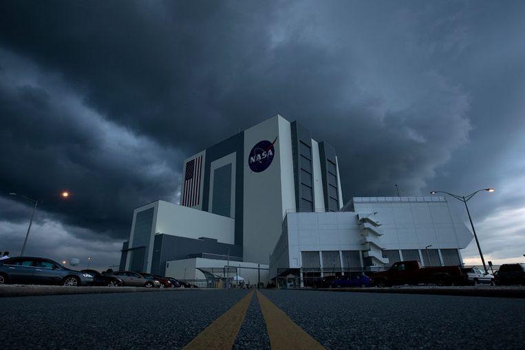 Het vluchtleidingscentrum van NASA op Cape Canaveral. (Foto NASA/Bill Ingalls) Beeld null