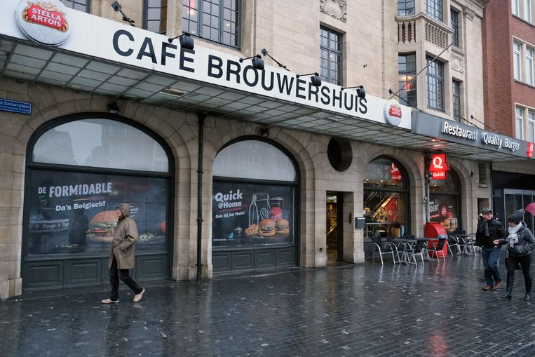 Heeft Quick het pand van het voormalige Brouwershuis gehuurd van AB InBev om het restaurant uit te breiden?