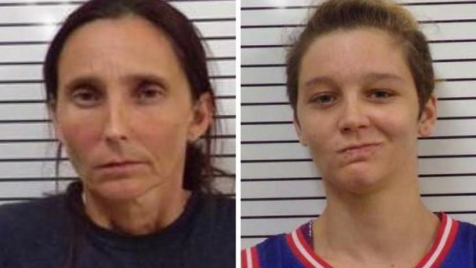 Patricia Ann Spann (links) en haar dochter Misty Spann.