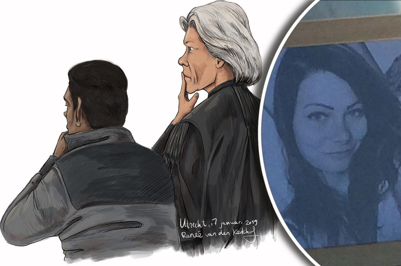 Verdachte Zamir M. en de vermoorde Laura Korsman.