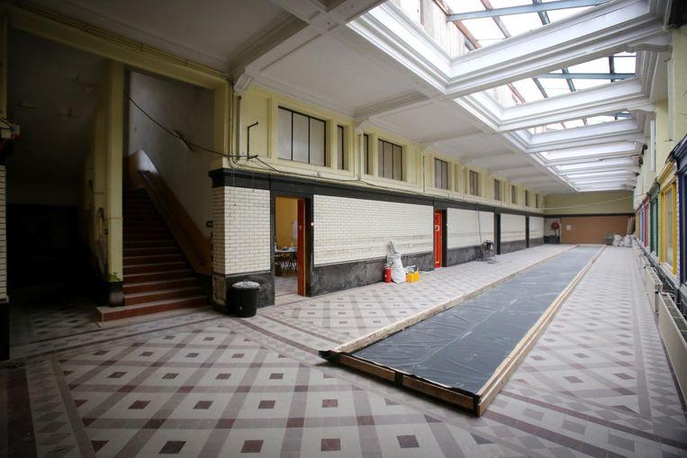 De ruwbouw is af, maar de renovatie gaat onverminderd door.