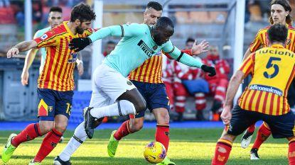 LIVE. Veel kansen voor Lukaku en Inter, maar nog geen goals in duel tegen Lecce