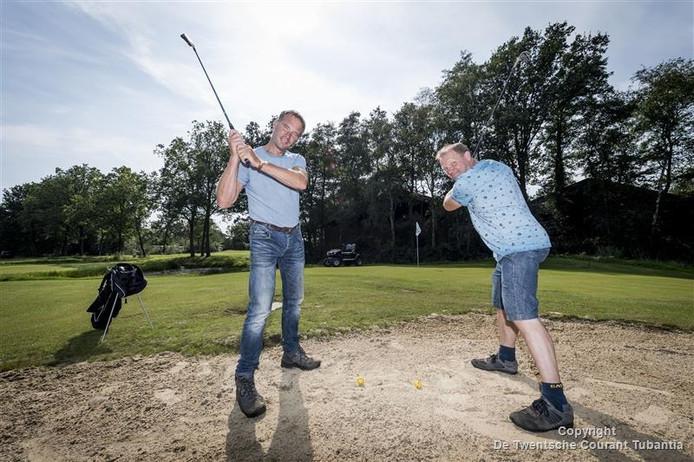 Shortgolf in Tubbergen, Clemens Scholte op Linde en Gerard Koopman