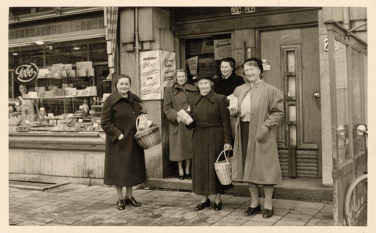 De eerste Febo op de Amstelveenseweg, eind jaren veertig, toen nog een brood- en banketbakkerij Beeld FEBO