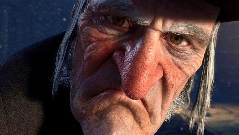 Jim Carrey in A Christmas Carol. Beeld
