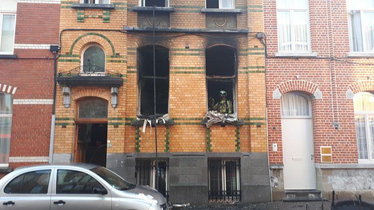 De benedenverdieping brandde volledig uit.