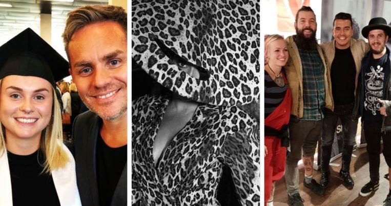 Peter Van de Veire en dochter (L), Beyoncé (M) en Jan Smit (R).