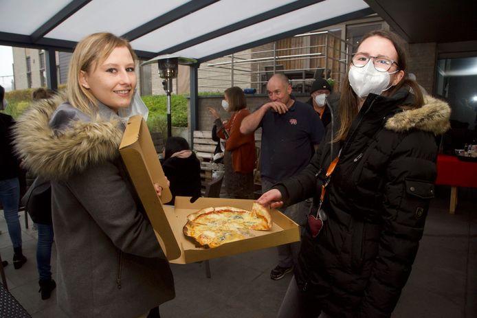 Pizza en geschenkmand voor personeel Armonea