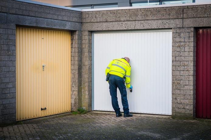 Ook werden enkele garageboxen gecontroleerd.