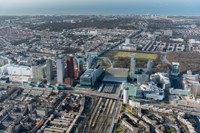 Den Haag vanuit de lucht, ter illustratie.