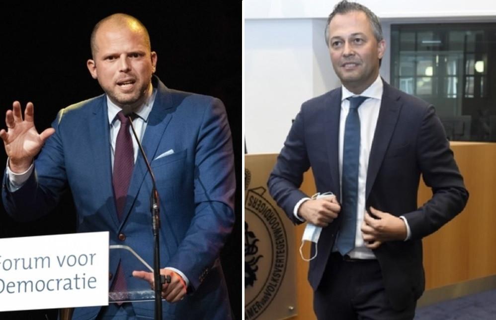 Theo Francken (N-VA) et Egbert Lachaert (Open VLD)