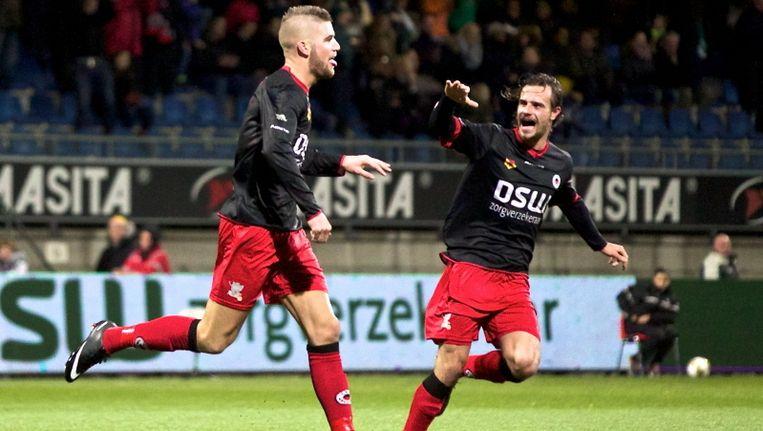 Veldwijk zet Excelsior op 2-0. Beeld null