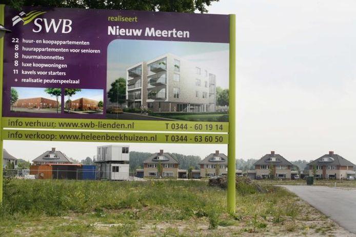 Het gebied Nieuw Meerten en de aangekondigde plannen. foto William Hoogteyling