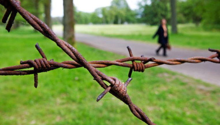 Prikkeldraad in Kamp Westerbork. De bevrijding van Kamp Westerbork wordt maandag herdacht. Het is precies 65 jaar geleden dat de Canadezen Westerbork bevrijdden. Foto ANP Beeld