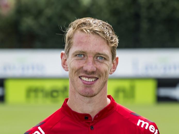 Robert Braber maakte de 1-0 voor Helmond Sport.