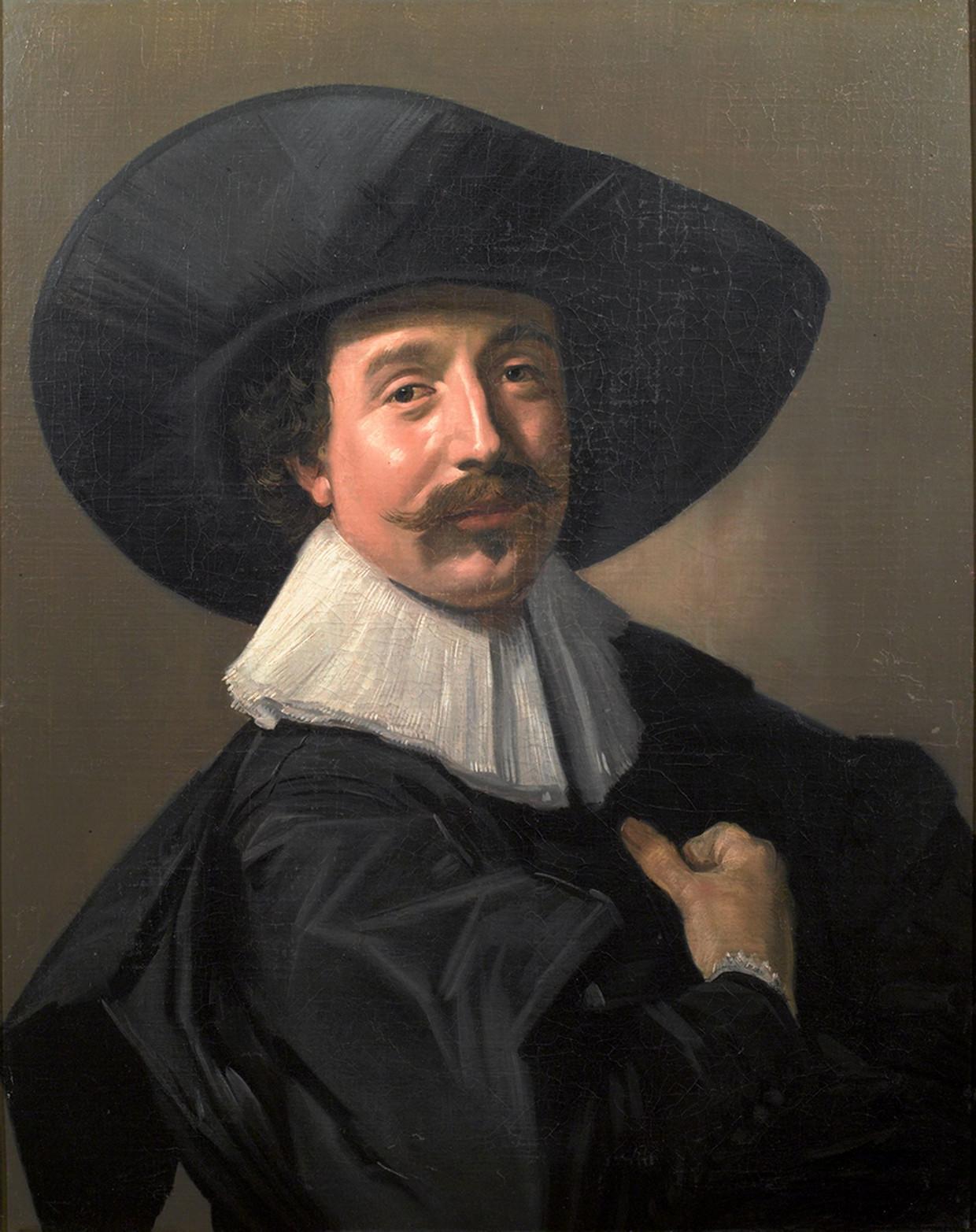 Frans Hals , 'Portret van een onbekende man met hoed en handschoenen'. Beeld Staatlichen Museen zu Berlin
