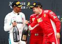 Hamilton en Vettel maken dit seizoen uit wie de eerste wordt met vijf wereldtitels op zak.