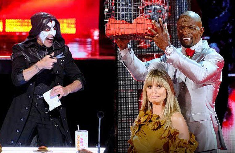 Heidi Klum schreeuwt het uit tijdens bloedstollende truc vol twists in 'America's Got Talent'