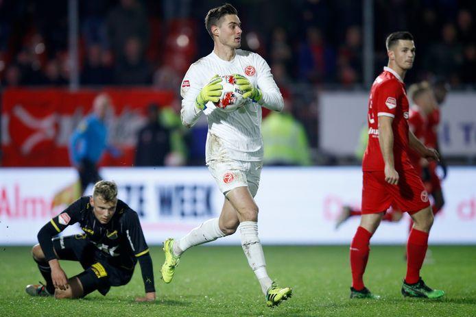 Joshua Smits heeft redding gebracht voor Almere City FC tegen NAC.