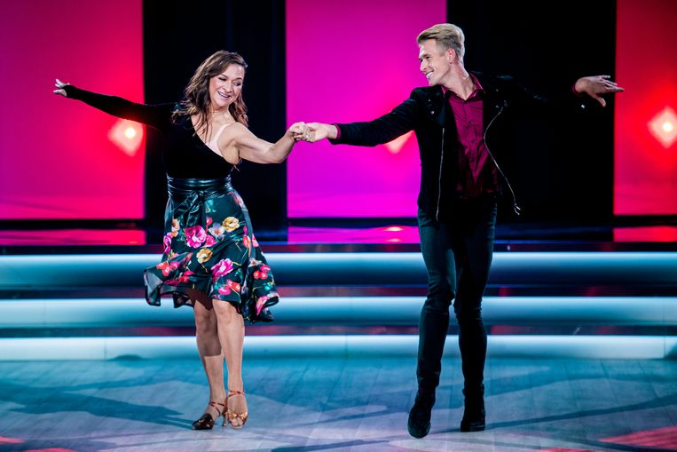 Ann aan het werk in 'Dancing With The Stars'.
