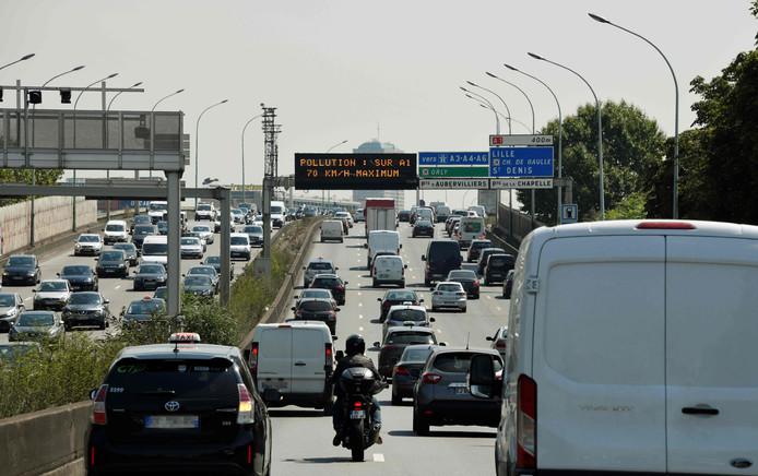 Eerder al werden op de ringweg van Parijs snelheidslimieten ingesteld vanwege de luchtvervuiling