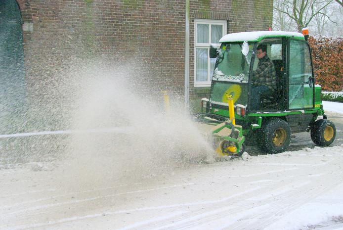 Sneeuw in plaats van ijzel