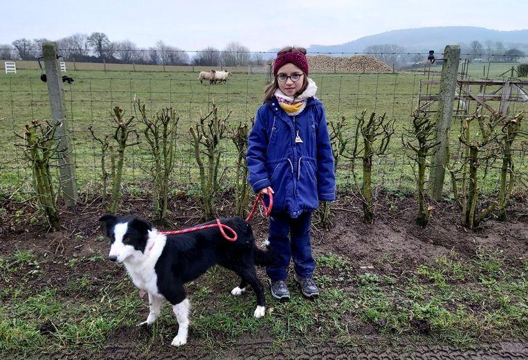 Lisa (8) nam deel met een bordercollie. Thuis heeft ze wel 17 honden.