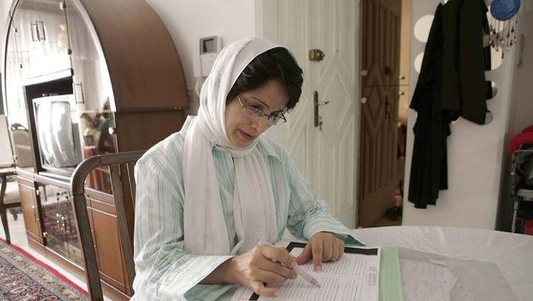 Nasrin Sotoudeh, een van de winnaars van de Sacharov-prijs, op archiefbeeld. Beeld EPA