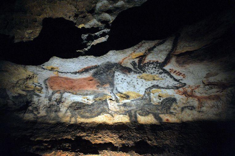 Grottekeningen in Lascaux Beeld AFP
