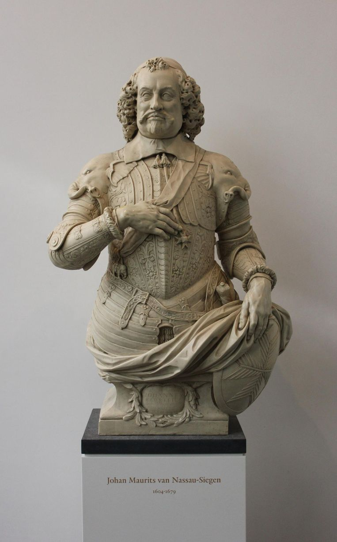 Het borstbeeld van Johan Maurits. Beeld Beko / Wikimedia