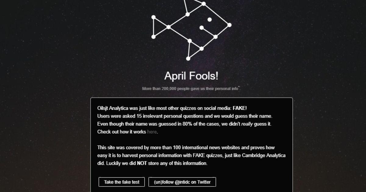 Site Die Je Naam Raadt Met 15 Vragen Blijkt Aprilgrap Internet